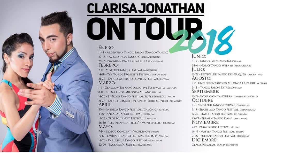 CLARISA JONATHAN 2018 PROGRAMME